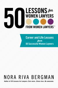 Cover of book 50 lessons from women lawyers