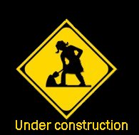 Under construction graphic with woman working